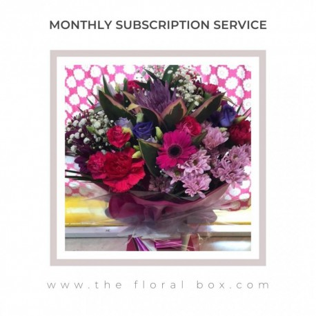 Monthly Flower Delivery Subscription Service